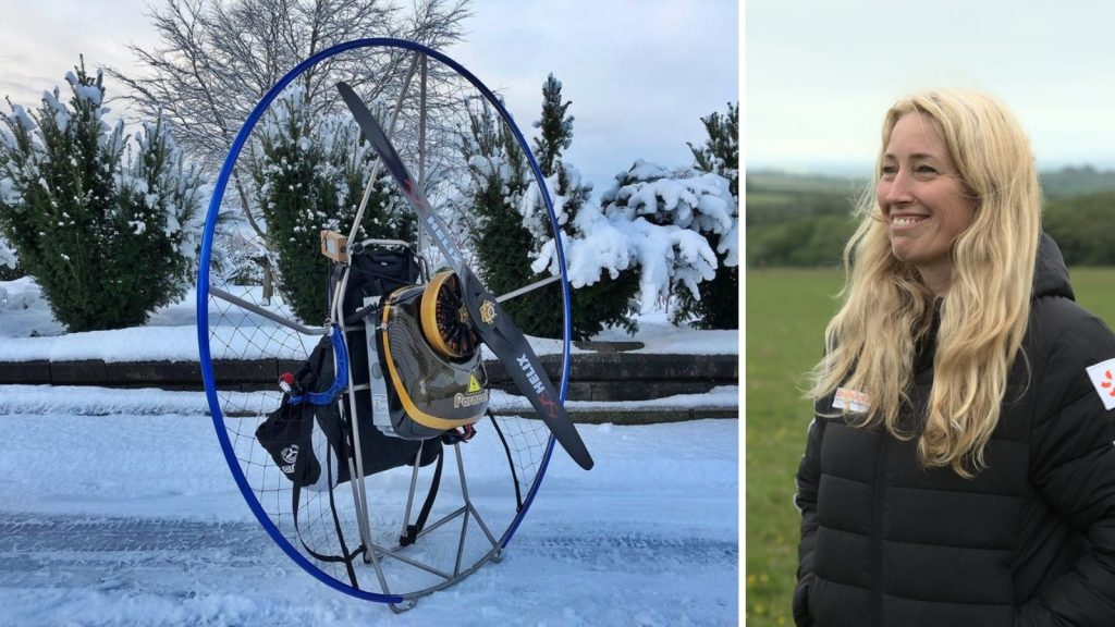 Above: left to right: the electronic paromotor and Sacha Dench.